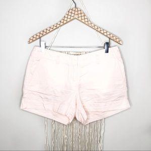 "J. Crew Factory Linen Pink City Fit 4"" Shorts"